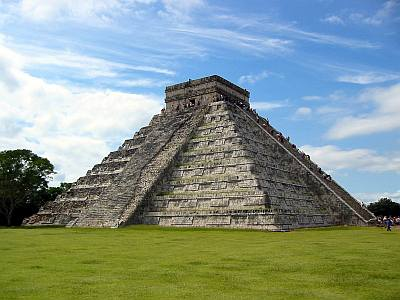 The temple of Kukulkan at Chichen Itza