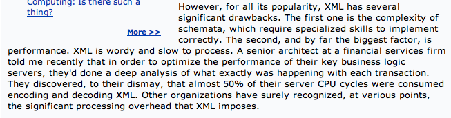 XMLperformance