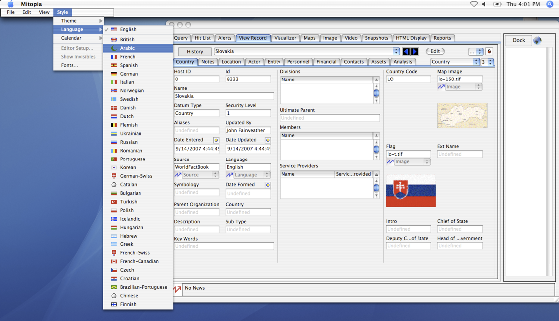 Dynamic software localization - English appearance